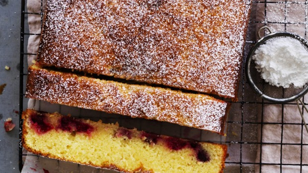 Helen Goh's lemon 'brownies' with winter berries