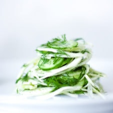 Fennel Salad with Cucumber and Dill