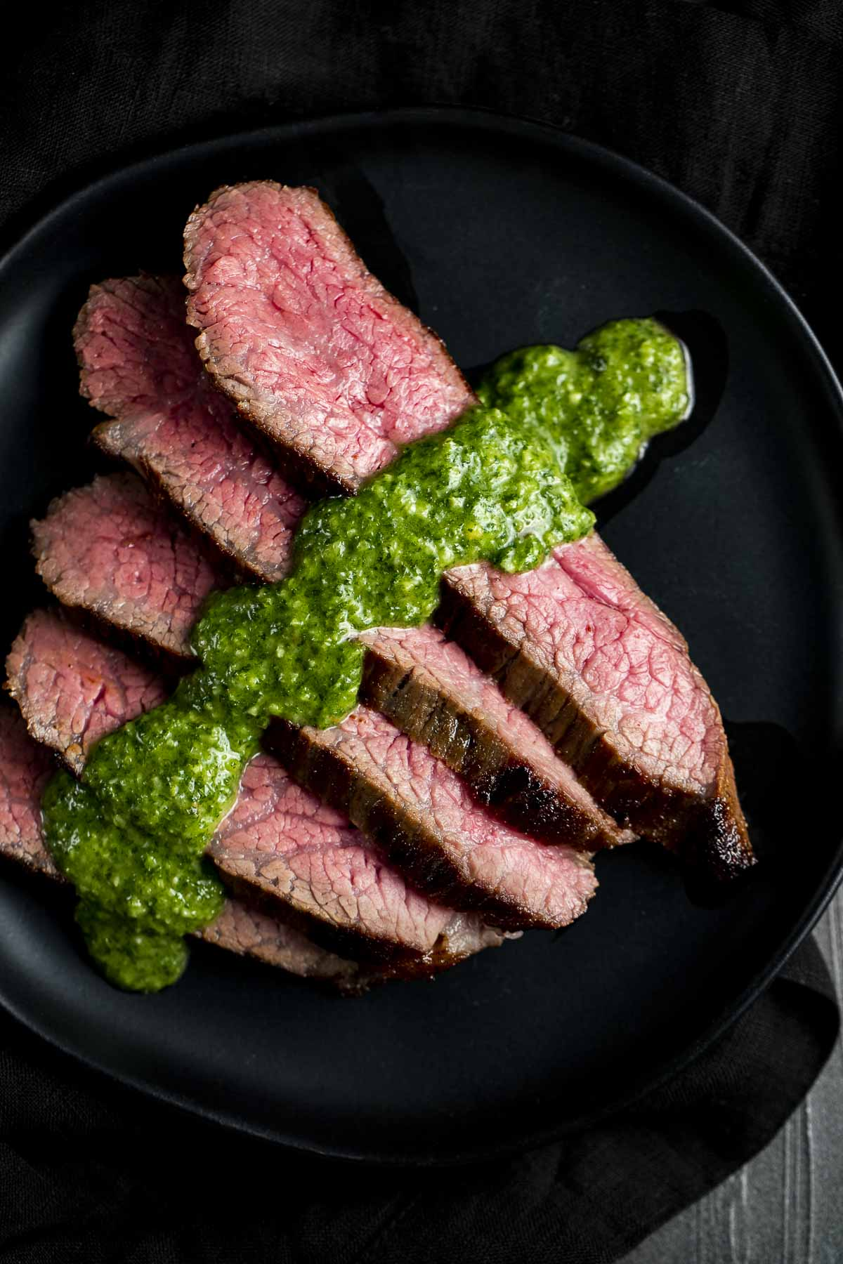Ginger Soy Sous Vide Tri Tip with Asian Chimichurri