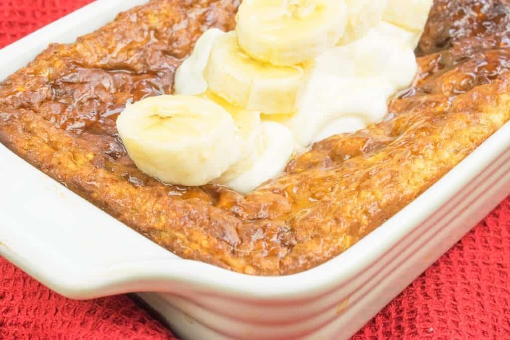 Low Syn Honey & Banana Baked Oats